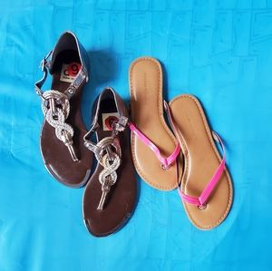 2For1 Banana Hot Pink Patent Flops (6)